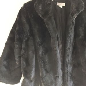 Merona faux fur coat